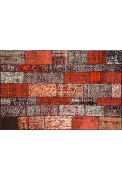 Grand Hedef Halı Kahve Renk Patchwork El Dokuma HALISI-120 x 180 cm