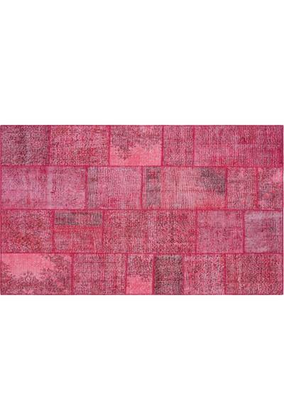 Grand Hedef Halı Kırmızı Renk Patchwork El Dokuma Halı 170 x 240 cm