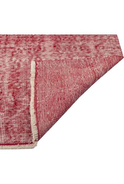 Grand Hedef Halı Kırmızı Renk Vintage El Dokuma Halısı 80 x 150 cm