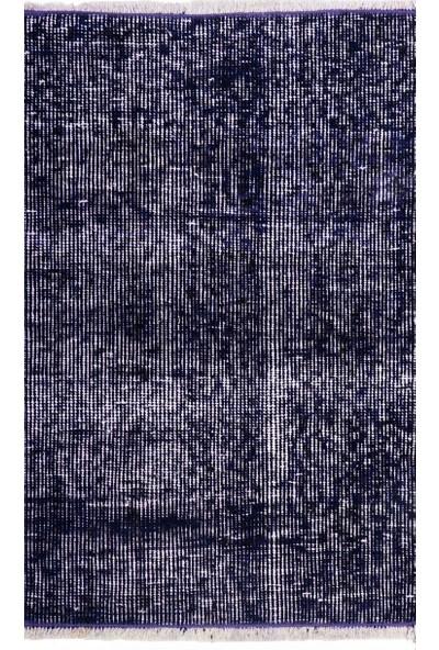 Grand Hedef Halı Mor Renk El Dokuma Vintage Paspas 45 x 70 cm
