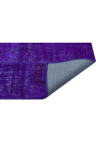 Grand Hedef Halı Mor Renk Patchwork El Dokuma Halı 170 x 240 cm