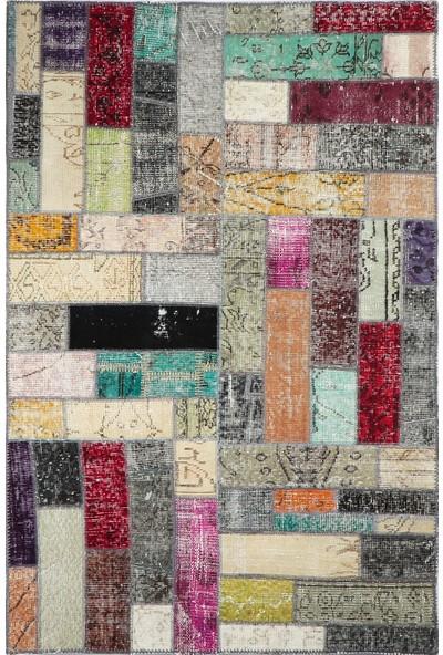 Grand Hedef Halı Multi Renk Patchwork El Dokuma Halısı 120 x 180 cm