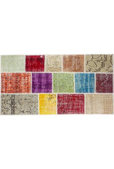 Grand Hedef Halı Multi Renk Patchwork El Dokuma Halısı 80 x 150 cm