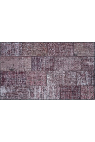 Grand Hedef Halı Mürdün Renk Patchwork El Dokuma Halı 160 x 230 cm