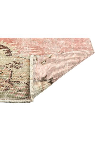 Grand Hedef Halı Natıural Pudra Renk El Dokuma Vintage Paspas 45 x 70 cm