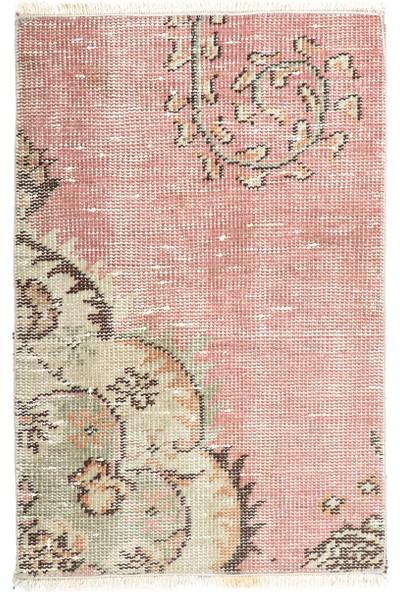 Grand Hedef Halı Natural Pudra Renk El Dokuma Vintage Paspas 45 x 70 cm