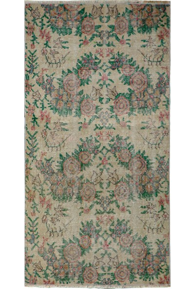 Grand Hedef Halı Natural Renk Vintage El Dokuma Halısı 80 x 150 cm