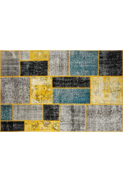 Grand Hedef Halı Özel Multi Renk Patchwork El Dokuma Halısı 120 x 180 cm