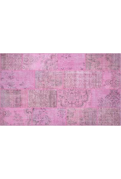Grand Hedef Halı Pembe Renk Patchwork El Dokuma Halısı 170 x 240 cm