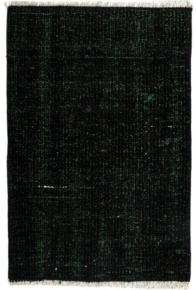 Grand Hedef Halı Petrol Yeşili Renk El Dokuma Vintage Paspas 45 x 70 cm