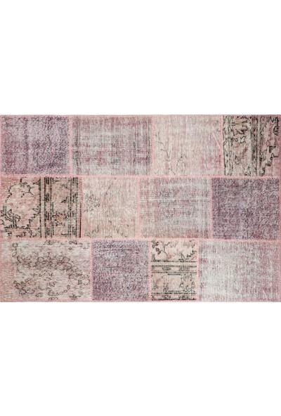 Grand Hedef Halı Pudra Renk Patchwork El Dokuma Halısı 120 x 180 cm