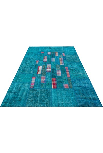 Grand Hedef Halı Turkuaz Halı Anadolu Kilim Karışımı 170 x 240 cm