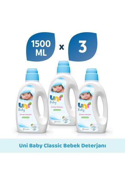 Uni Baby Çamaşır Deterjanı 1.500 ml 3'lü Ekonomik Fırsat Paketi
