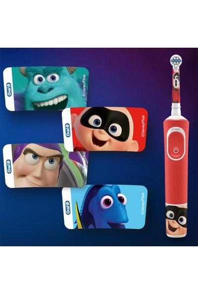 Oral-B Çocuklar İçin Şarj Edilebilir Diş Fırçası D100 Vitality Pixar Özel Seri + Seyahat Kabı