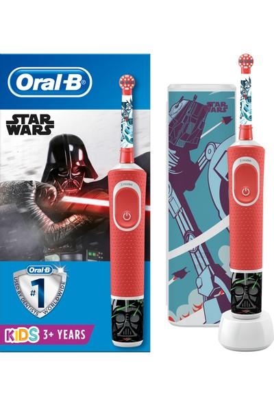 Oral-B Çocuklar İçin Şarj Edilebilir Diş Fırçası D100 Vitality Star Wars Özel Seri + Seyahat Kabı