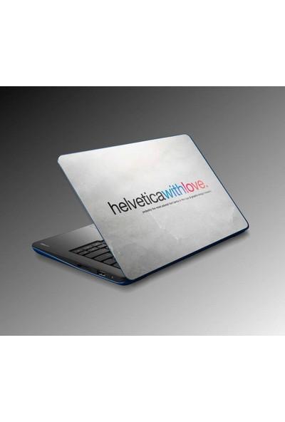 Jasmin Laptop Sticker Helvetica With