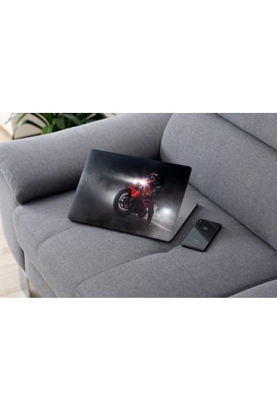 Jasmin Laptop Sticker Motorsikletli Adam
