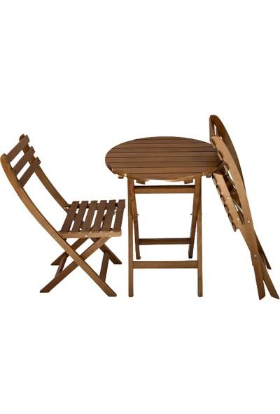 City Ada Balkon Seti Yuvarlak Masa Sandalye 60 cm