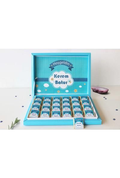 Hayal Sepetim Bebek Çikolatası - Erkek Bebek Çikolatası