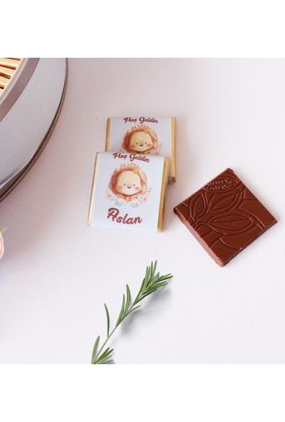 Hayal Sepetim Erkek Bebek Çikolatası 72 Madlen+200 gr Draje