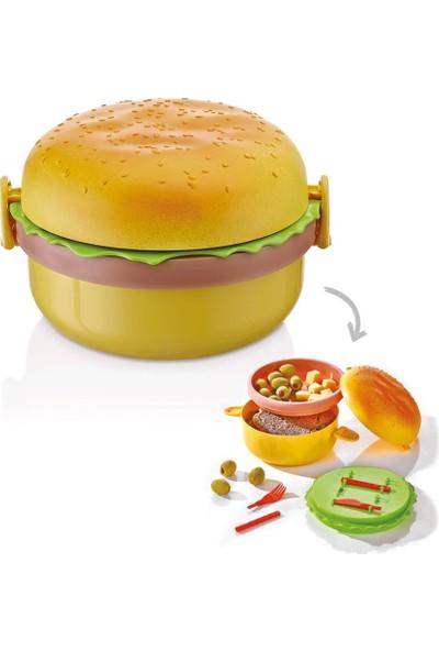 Qlux Hamburger Saklama ve Beslenme Kutusu