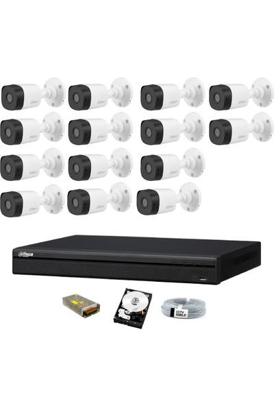 Dahua 14 Kameralı Güvenlik Sistemi Dış-Mekan-Hdd-Jack-Bnc-Konnektör Proje Kamera