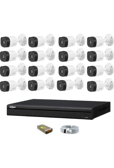 Dahua 16 Kameralı Güvenlik Sistemi Dış-Mekan-Jack-Bnc-Konnektör Proje Kamera