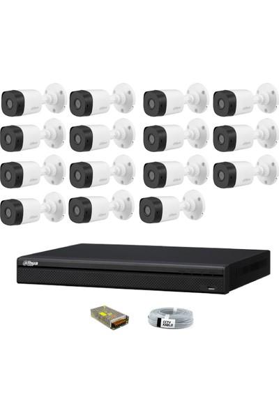 Dahua 15 Kameralı Güvenlik Sistemi Dış-Mekan-Jack-Bnc-Konnektör Proje Kamera