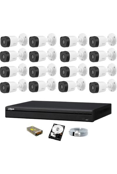 Dahua 16 Kameralı Güvenlik Sistemi Dış-Mekan-Hdd-Jack-Bnc-Konnektör Proje Kamera