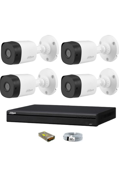 Dahua 4 Kameralı Güvenlik Sistemi Dış-Mekan-Jack-Bnc-Konnektör Proje Kamera
