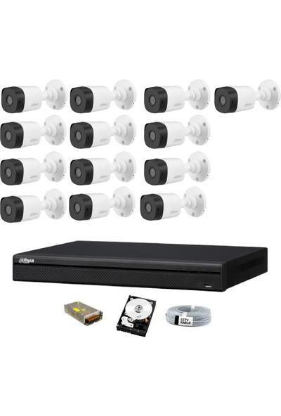 Dahua 13 Kameralı Güvenlik Sistemi Dış-Mekan-Hdd-Jack-Bnc-Konnektör Proje Kamera