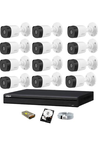 Dahua 12 Kameralı Güvenlik Sistemi Dış-Mekan-Hdd-Jack-Bnc-Konnektör Proje Kamera