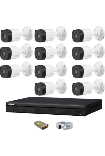 Dahua 11 Kameralı Güvenlik Sistemi Dış-Mekan-Jack-Bnc-Konnektör Proje Kamera