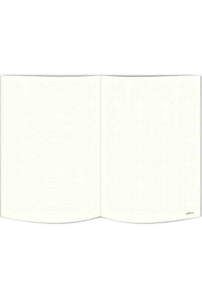 Le Color Replay Sert Kapak Lastikli Noktalı Defter 80 gr 17 x 24 cm