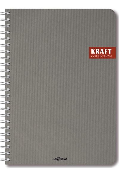 Le Color Kraft Sp 17 x 24 Kareli Defter Mavi