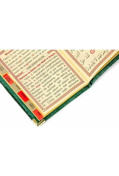 İhvan 20 Adet Kadife Kaplı Yasin Kitabı Allah Lafızlı İsme Özel Plakalı Cep Boy Yeşil 1125