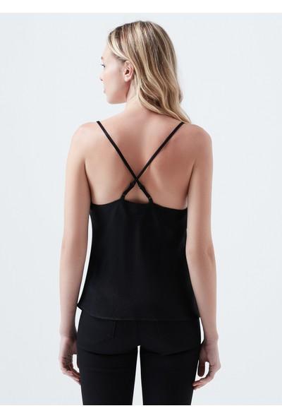 Mavi Askılı Siyah Bluz 122585-900