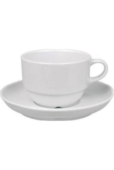 Güral Porselen Çay Fincanı Tabaklı EO023C