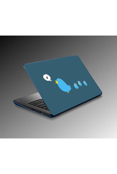 Jasmin Laptop Sticker Blue Birds