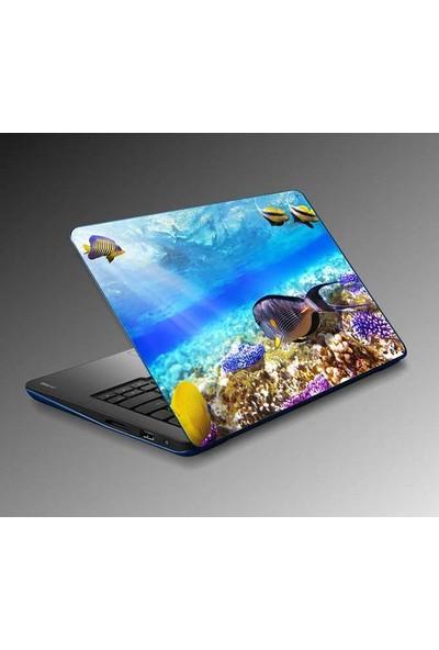 Jasmin Laptop Sticker Su Balıklar Sticker Yapıştırma Notebook Sticker