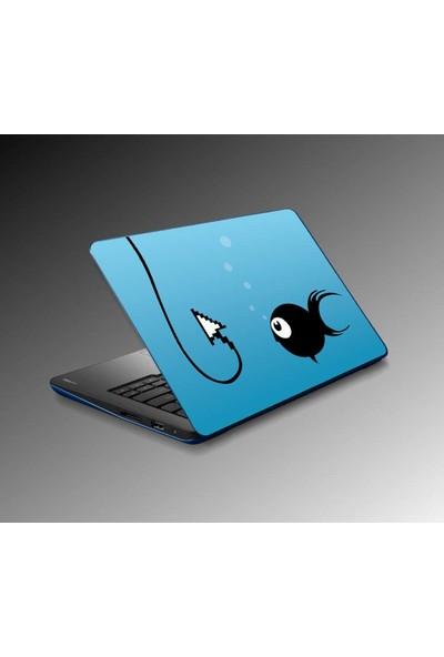 Jasmin Laptop Sticker Balık Olta