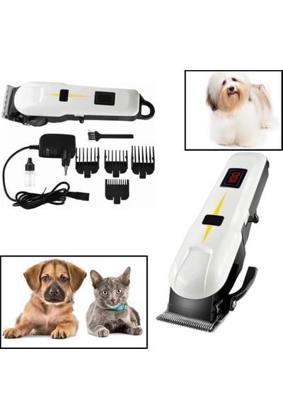 Insua Turbo Kedi Köpek Tıraş Seti Pet Evcil Hayvan Tüy Kesme Traş Tıraş Makinesi Seti