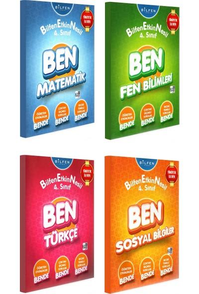 Bilfen Yayınları 4. Sınıf Ben Matematik Türkçe Fen Bilimleri Sosyal Bilgiler Etkin Nesil Seti 4 Kitap