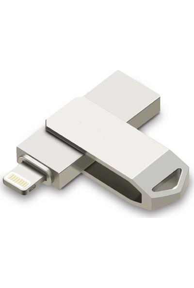 Powerway 128GB USB 2.0 Lightning Metal Flash Bellek USB