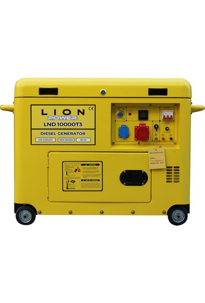 Lion Power Lnd 10000T3 / 9kva Trifaze Marşlı Dizel Jeneratör