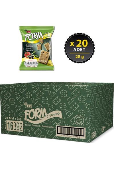 Eti Form Zeytinli Domatesli Kepekli Kraker 28 g x 20 Adet