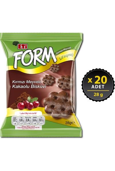 Eti Form Kırmızı Meyveli Kakaolu Bisküvi 28 g x 20 Adet