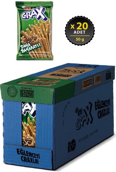 Eti Crax Baharatlı Çubuk Kraker 50 g x 20 Adet