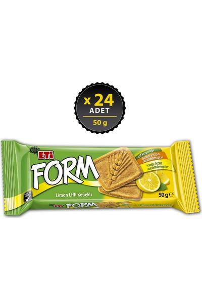 Eti Form Limon Lifli Kepekli Bisküvi 50 g x 24 Adet