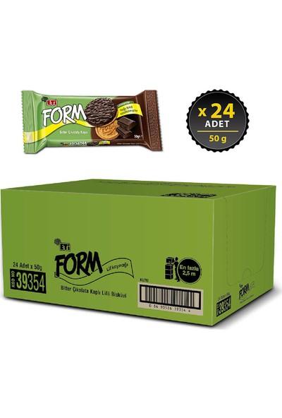 Eti Form Bitter Çikolata Kaplı Lifli Bisküvi 50 g x 24 Adet